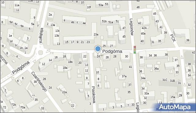 Toruń, Podgórna, 24, mapa Torunia