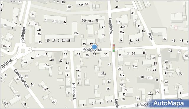 Toruń, Podgórna, 28, mapa Torunia