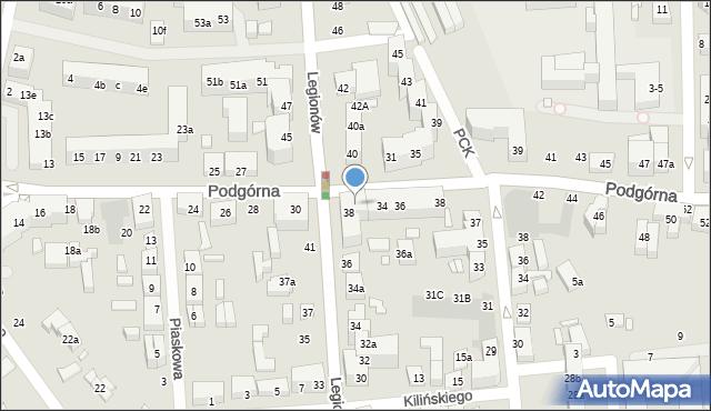Toruń, Podgórna, 32, mapa Torunia