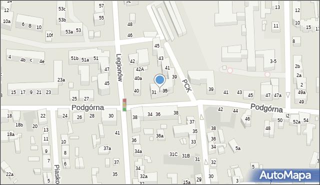 Toruń, Podgórna, 33, mapa Torunia