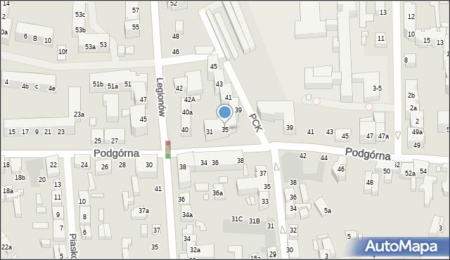 Toruń, Podgórna, 35, mapa Torunia