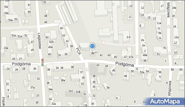 Toruń, Podgórna, 39, mapa Torunia