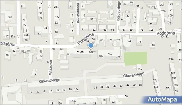 Toruń, Podgórna, 66A, mapa Torunia