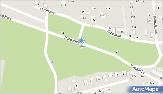 Toruń, Podgórska, 22, mapa Torunia