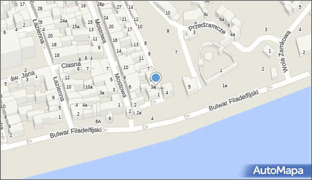 Toruń, Podmurna, 3, mapa Torunia