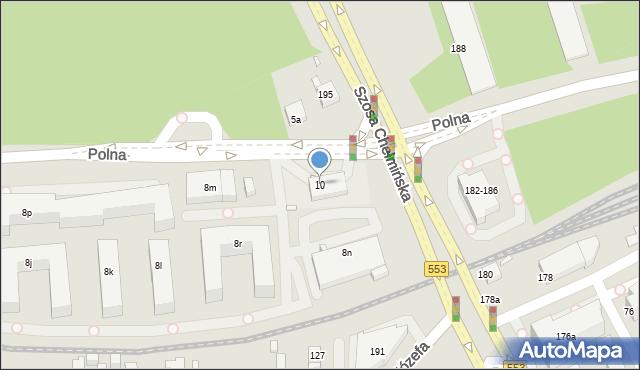 Toruń, Polna, 10, mapa Torunia