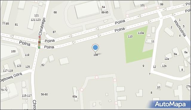 Toruń, Polna, 108, mapa Torunia