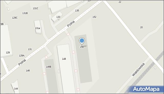 Toruń, Polna, 150, mapa Torunia