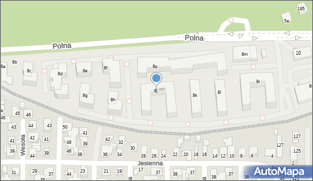 Toruń, Polna, 8j, mapa Torunia