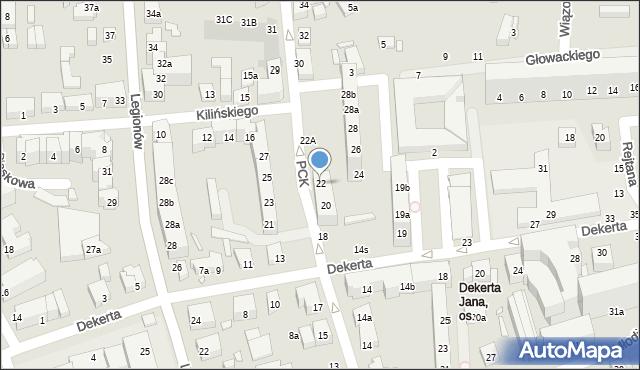 Toruń, Polskiego Czerwonego Krzyża, 22, mapa Torunia