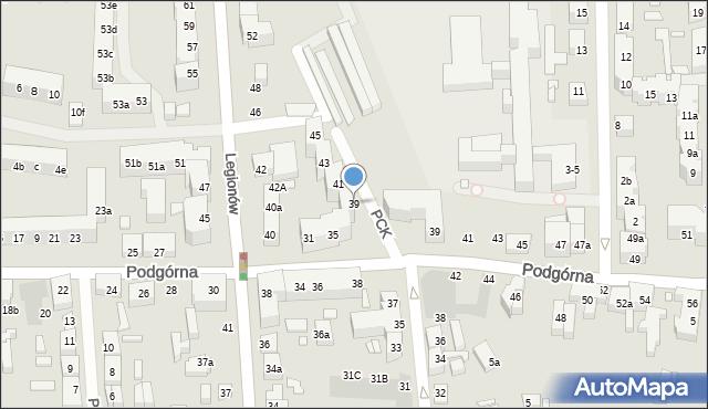 Toruń, Polskiego Czerwonego Krzyża, 39, mapa Torunia