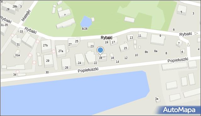Toruń, Popiełuszki Jerzego, bł. ks., 18, mapa Torunia