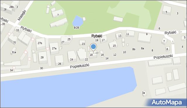 Toruń, Popiełuszki Jerzego, bł. ks., 20, mapa Torunia