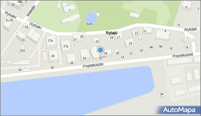Toruń, Popiełuszki Jerzego, bł. ks., 22, mapa Torunia