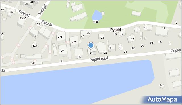 Toruń, Popiełuszki Jerzego, bł. ks., 24, mapa Torunia