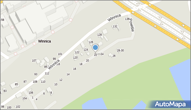 Toruń, Powiśle, 21, mapa Torunia