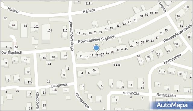 Toruń, Powstańców Wielkopolskich, 23, mapa Torunia
