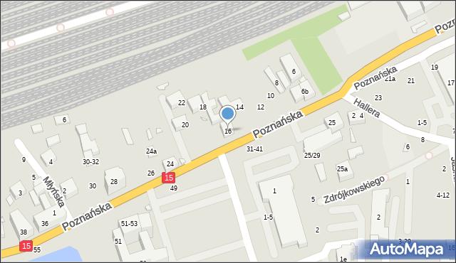 Toruń, Poznańska, 16, mapa Torunia