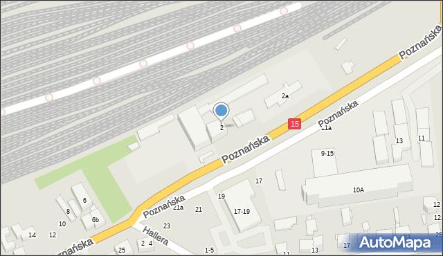 Toruń, Poznańska, 2, mapa Torunia