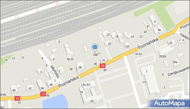 Toruń, Poznańska, 24a, mapa Torunia
