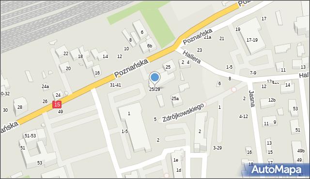 Toruń, Poznańska, 25/29, mapa Torunia