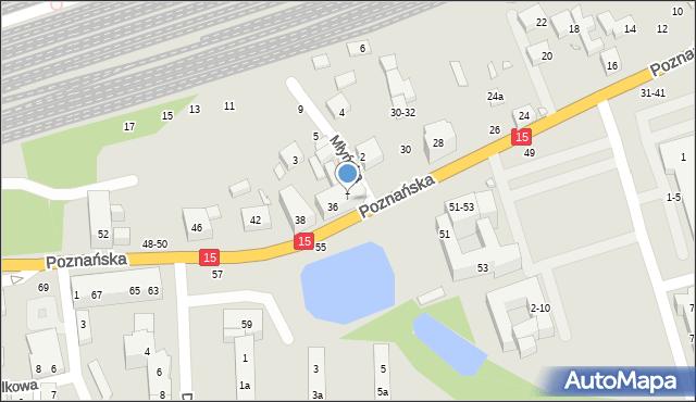 Toruń, Poznańska, 34, mapa Torunia