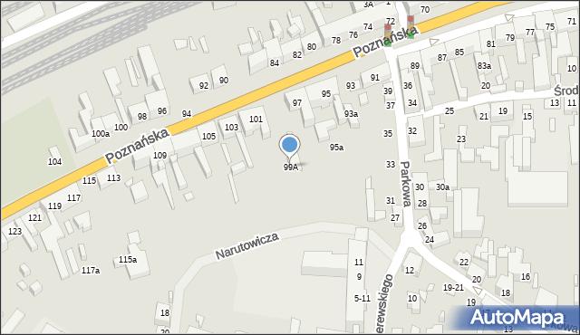 Toruń, Poznańska, 99A, mapa Torunia