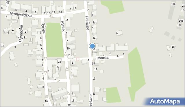 Tyczyn, Podwale, 13, mapa Tyczyn
