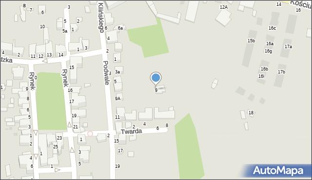 Tyczyn, Podwale, 9, mapa Tyczyn