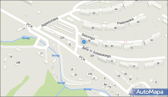 Ustrzyki Dolne, Polskiego Czerwonego Krzyża, 20B, mapa Ustrzyki Dolne