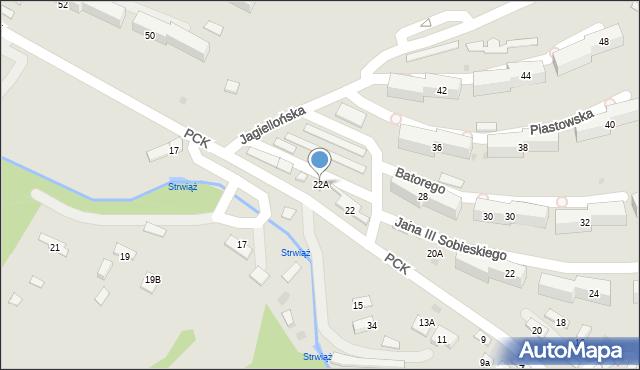 Ustrzyki Dolne, Polskiego Czerwonego Krzyża, 22A, mapa Ustrzyki Dolne