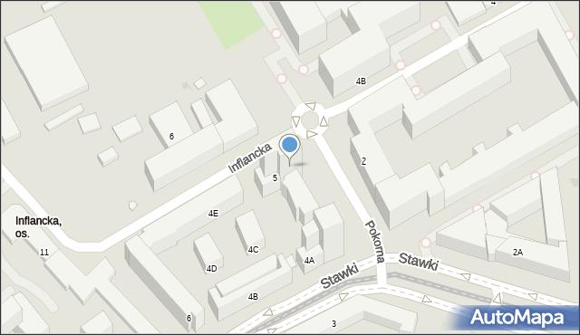 Warszawa, Pokorna, 2u, mapa Warszawy