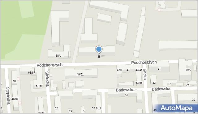 Warszawa, Podchorążych, 38, mapa Warszawy