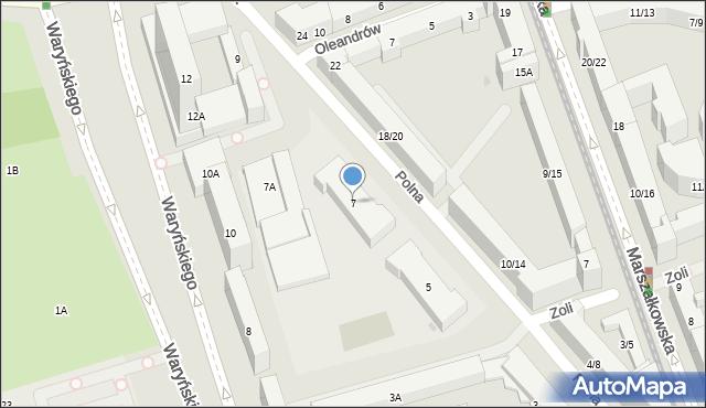 Warszawa, Polna, 7, mapa Warszawy