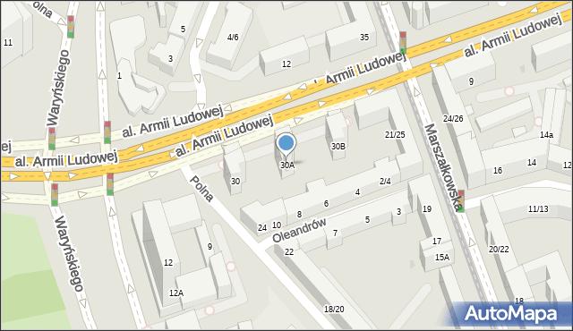 Warszawa, Polna, 30A, mapa Warszawy