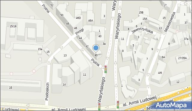 Warszawa, Polna, 40, mapa Warszawy