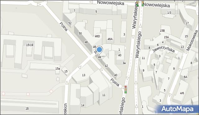 Warszawa, Polna, 44, mapa Warszawy