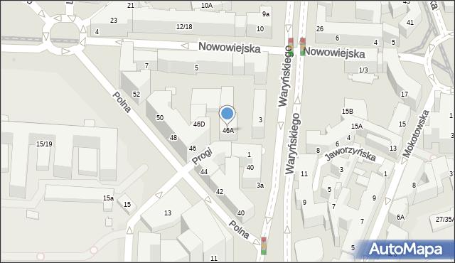 Warszawa, Polna, 46A, mapa Warszawy
