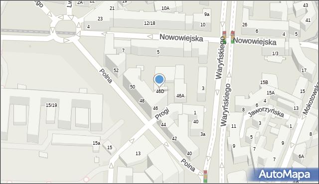 Warszawa, Polna, 46D, mapa Warszawy