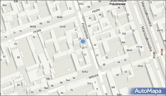 Warszawa, Poznańska, 13, mapa Warszawy