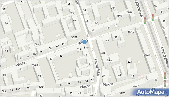 Warszawa, Poznańska, 7, mapa Warszawy