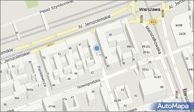 Warszawa, Poznańska, 36, mapa Warszawy