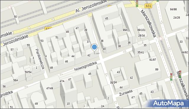 Warszawa, Poznańska, 36a, mapa Warszawy