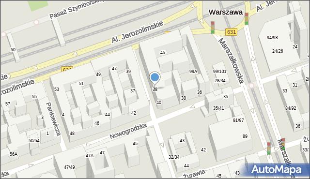 Warszawa, Poznańska, 38, mapa Warszawy