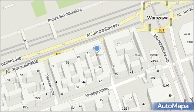 Warszawa, Poznańska, 39, mapa Warszawy