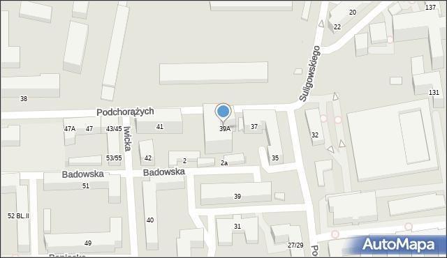Warszawa, Podchorążych, 39A, mapa Warszawy