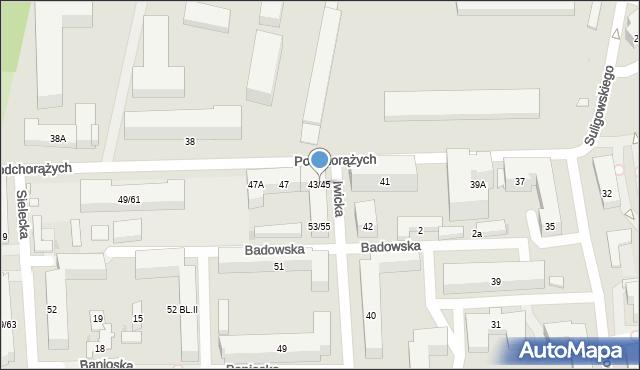 Warszawa, Podchorążych, 43/45, mapa Warszawy