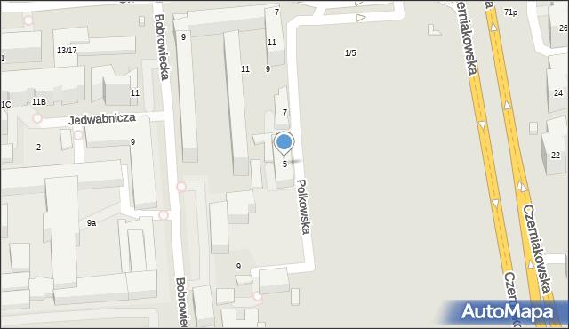 Warszawa, Polkowska, 5, mapa Warszawy