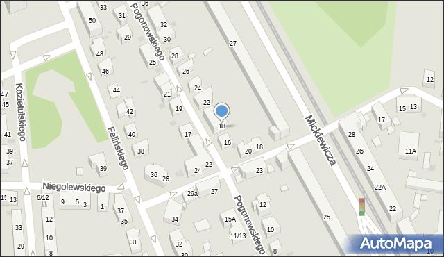 Warszawa, Pogonowskiego Stefana, 18, mapa Warszawy