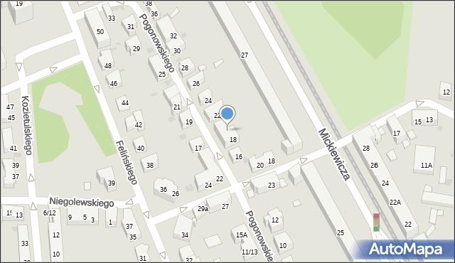 Warszawa, Pogonowskiego Stefana, 20, mapa Warszawy